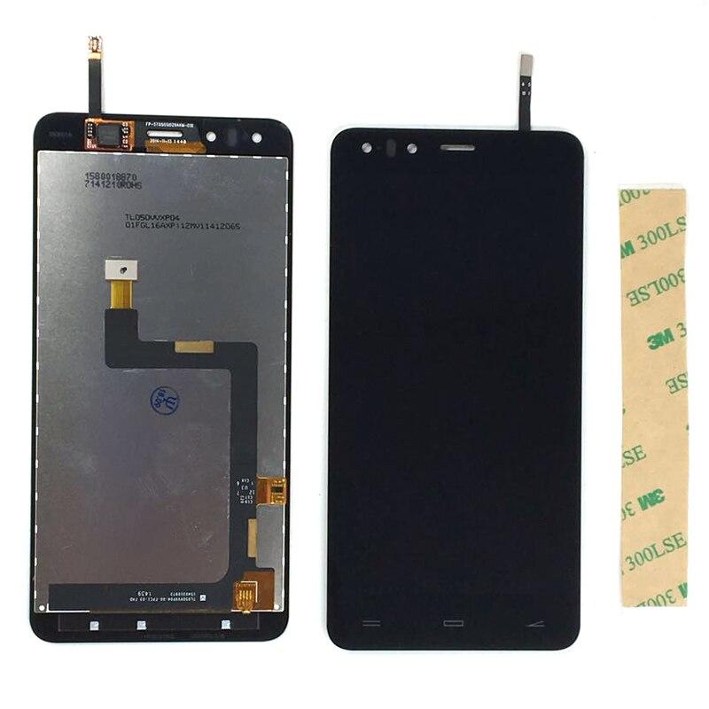Test ok Pour Highscreen Hercules LCD Display + Écran Tactile Digitizer Avec 3 m autocollants Bande 1 pc/lot