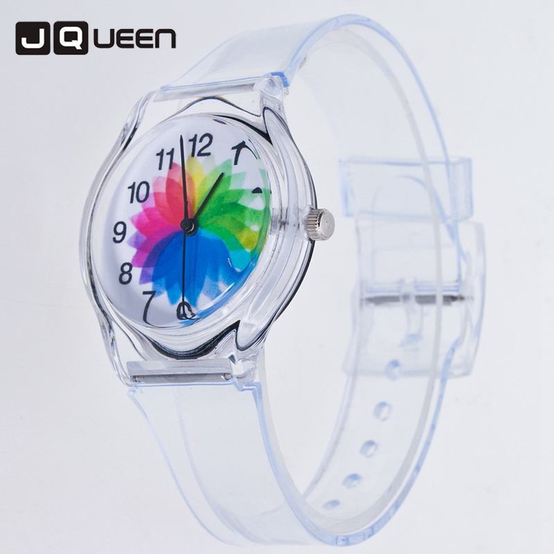 Transparent Silicone Band Women Watches Beautiful Jelly Color Watch Girls Casual Quartz Wristwatches Montre Reloj Mujer kids watches children silicone wristwatches doraemon brand quartz wrist watch baby for girls boys fashion casual reloj