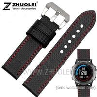 New Style High Quality For Garmin Derek Fenix3 Watchband Fenix Wrist Watch With 3 Carbon Fiber
