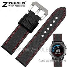 Nouveau style de haute qualité Pour Garmin Derek Fenix3 bracelet Fenix montre-Bracelet avec 3 en fiber de carbone 26mm montre étanche sangle