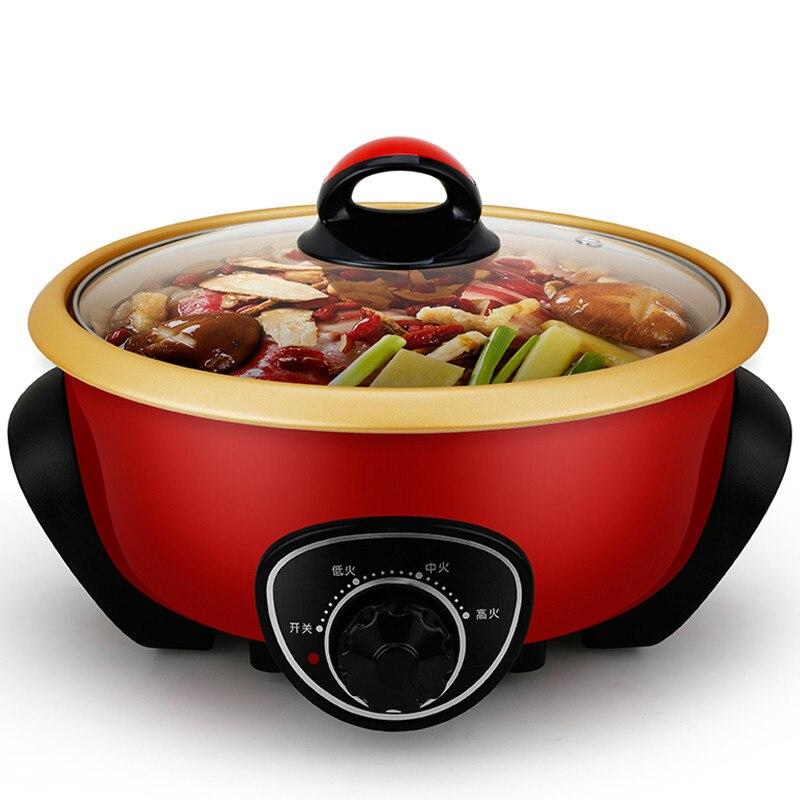 Электрический Плита 3.5l Ёмкость бытовой многоцелевой Электрический Hot Pot поддержка стейк рыбы hotpot multi Плита
