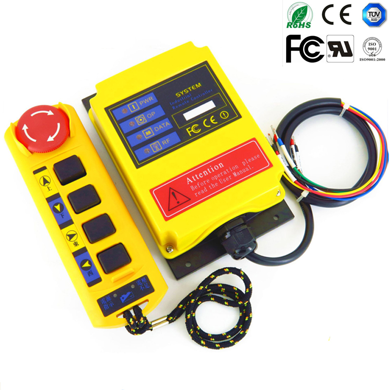 TelecontrolA4S/AC220V industrial nice radio remote control AC/DC universal wireless control for crane 1transmitter and 1receiver free shipping rf21 e1b industrial universal wireless radio remote control for overhead crane