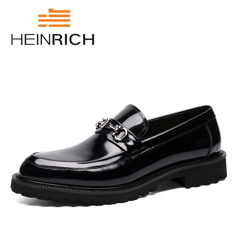 HEINRICH Men Dress Shoes Men's Formal Male Work Leather Flats British Brand Shoes Lace-Up Comfortable High Quality Men Shoes business dress shoes fashion hot sale high quality brand genuine leather men lace up british formal shoes male footwear 42 43 44