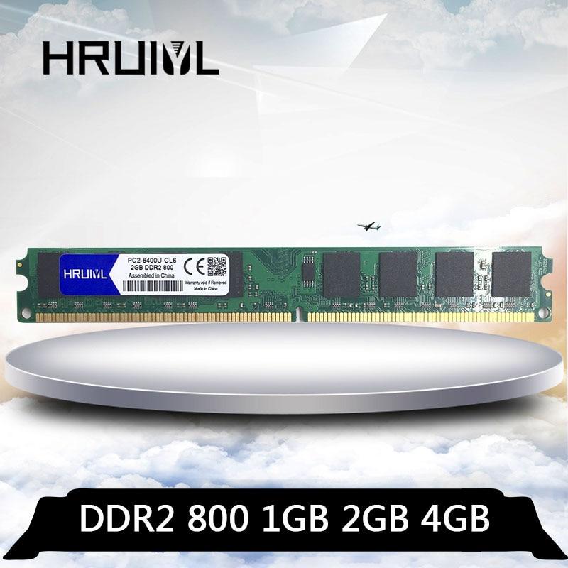 Hruiyl ddr2 2 gb 4 gb 1 gb PC2 6400U 800 mhz para computador de mesa dimm 1g 2g 4g pc2 6400 memória ram memória ddr 2 800 mhz memoria|RAM|   - AliExpress