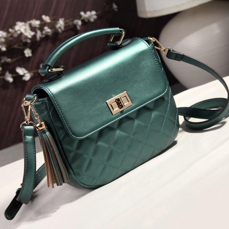ФОТО High Quality Summer Style Hot Sale Women's Leather Bags Fresh Women Messenger Bags Plaid Shoulder Bag Bolsas Feminina