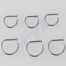 High Polished G23 Titanium 18g 20g New Design Nose Clip Nose Screw Ring Piercing Body Jewelry