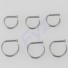 Piercing de titanio G23 de 18g y 20g, nuevo diseño, Clip para la nariz, Anillo para el tornillo para la nariz, joyería para el cuerpo