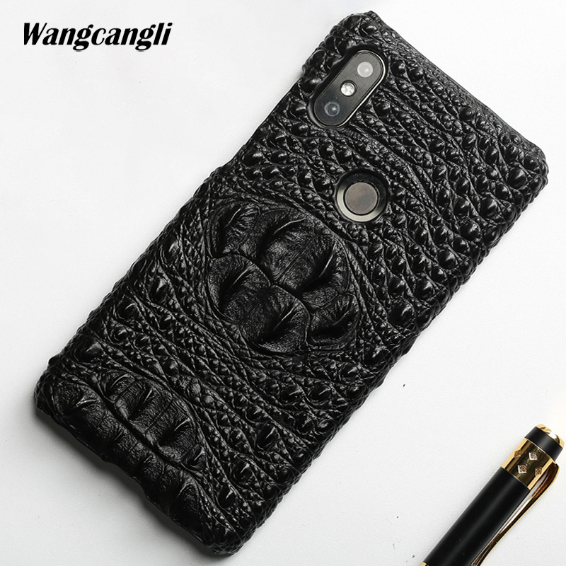 Brand phone case for Xiaomi note 5 crocodile pattern half-pack Cowhide mobile phone protection case for xiaomi mix 2s a1 a2