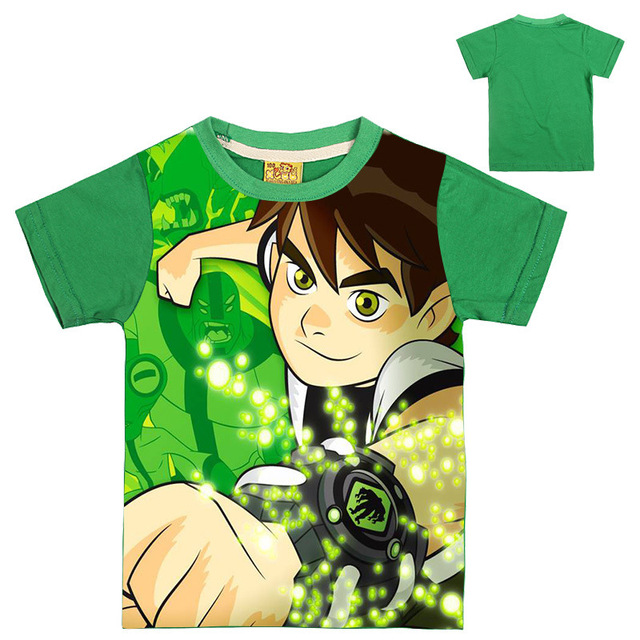2-8Years 2019 Summer Tops Ben 10 Costumes Boys T Shirt Short Sleeves Boys T-shirts Sportwear Outfits Cartoon Kids Short Sleeves