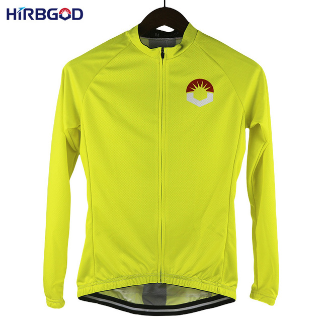 HIRBGOD Stylish of Womens Retro Color Cycling Jersey Moisture Wicking  Breathable Long Sleeve Bike Clothes Sport Wear-HK021 e8dbe0db1