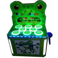 2pcs Pack Frog Jump Iron Cabinet Hammer Hit Frog Coin Operated Game Machine For Kids In
