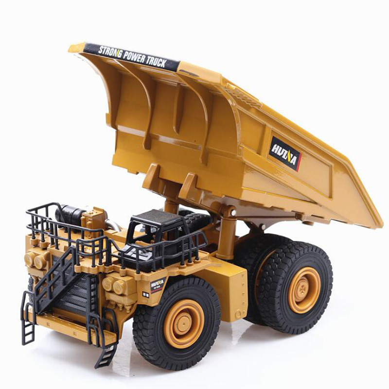1/40 Scale Truck Die-cast Alloy Metal Car Excavator Mining Dump Truck Excavator Model Toy Engineering Truck For Kids Collection
