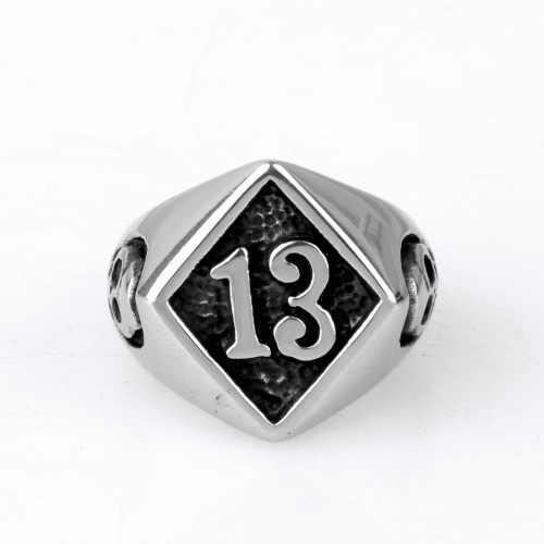 Anel do punk do vintage do vintage para homem da forma quente n. ° 13 anéis masculinos do crânio