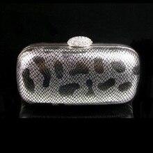 8605-S Kristall Metallic SILBER Lady Fashion Night clutch abendtasche handtasche fall boxIN KOSTENLOSER VERSAND
