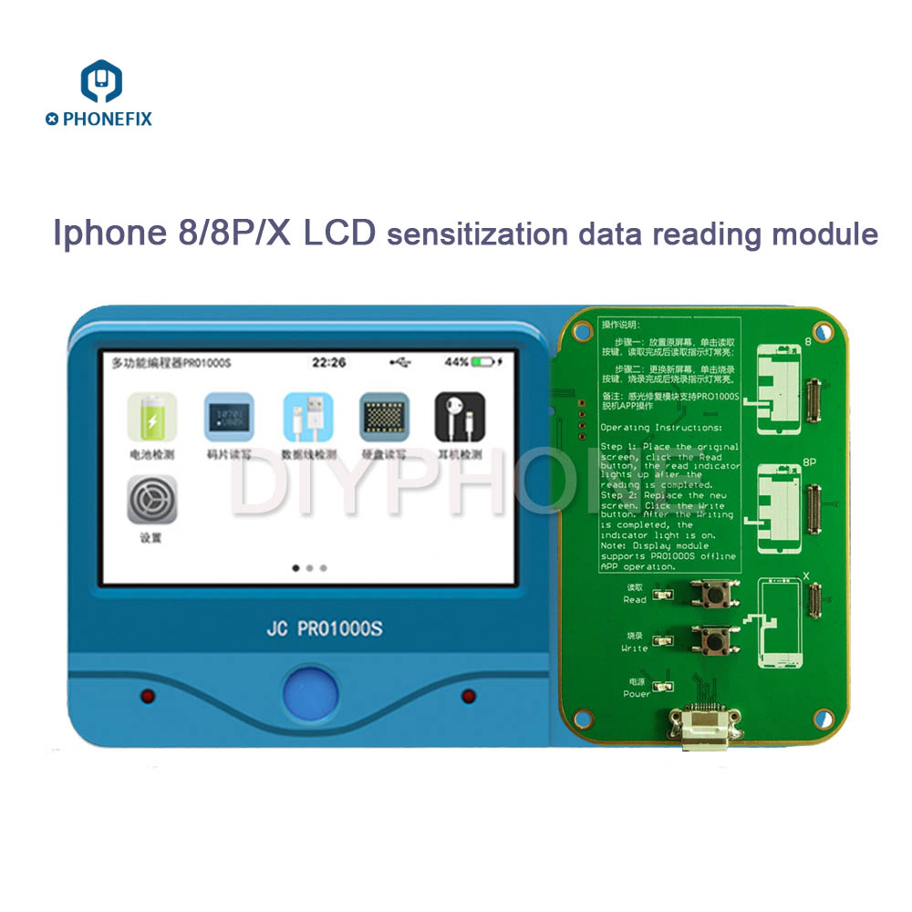 JC Pro1000s LCD Screen Photosensitive Data Programmer Phone Photoreceptor Repair Read Rewrite Backup Tool for iPhone 8 8plus X-in Hand Tool Sets from Tools