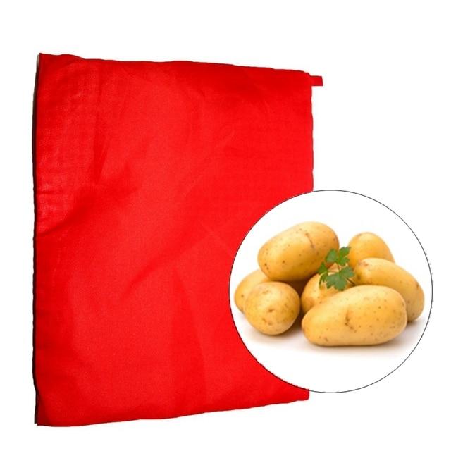 1 PZ New Red Lavabile Sacchetto di Patate al forno A Microonde Fornello Forno Ar