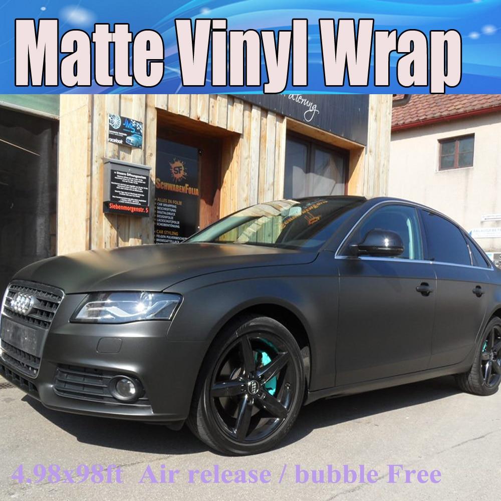 3m Vinyl Wrap For Sale >> Aliexpress.com : Buy Premium Black Matte Vinyl Wrap with Air Bubble Free Satin Matt Black Foil ...