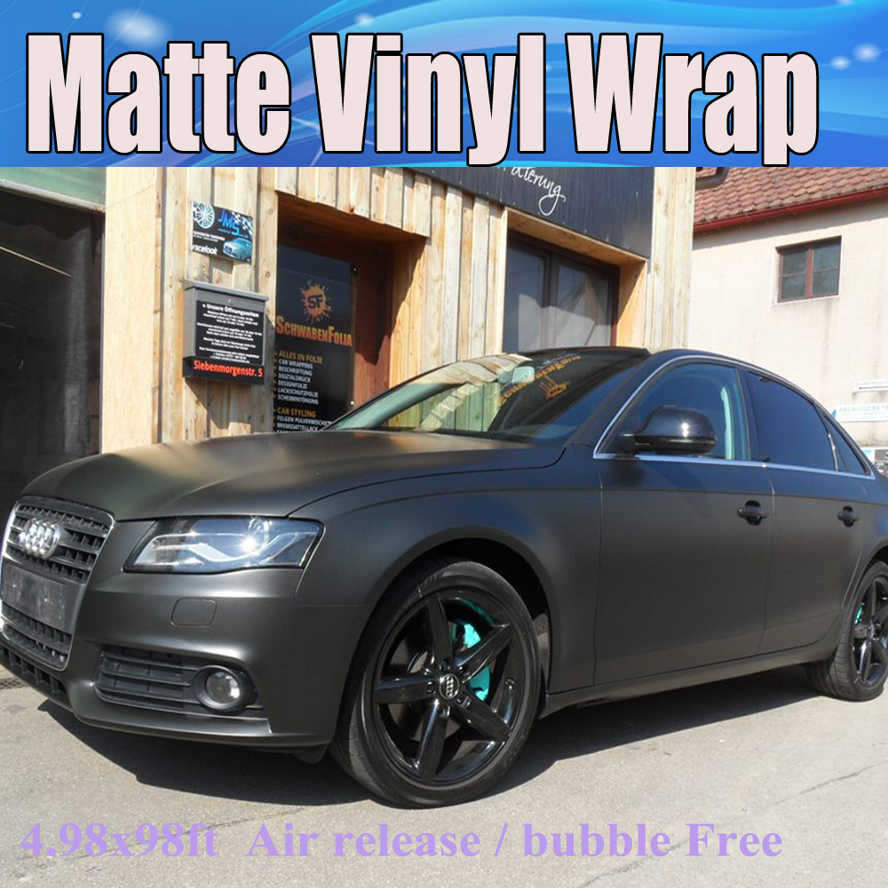 buy premium black matte vinyl wrap with air bubble free satin matt black foil. Black Bedroom Furniture Sets. Home Design Ideas