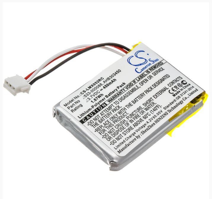 Cameron Sino 450 mAh batterie pour LOGITECH 910-004362 910-004374 M-RO052 MX partout 2 Master 533-000120 533-000121 AHB303450
