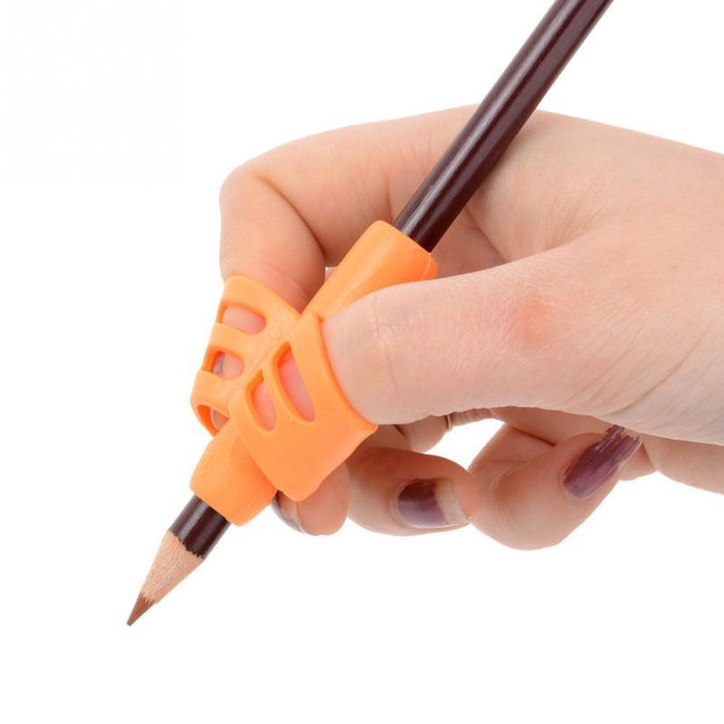 3 шт. Студенческая силиконовая двухпальцевая эргономичная коррекция осанки ручка захвата для детей Детский карандаш держатель канцелярские принадлежности