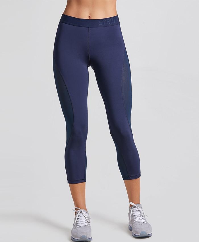 42db8e89652a4 2019 CRZ YOGA Women'S Slimming Mesh Sports Cropped Tights Training ...