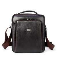 New Style Fashion 100 Genuine Leather Men Bags Shoulder Bag Men Essential Travel Messenger Bag Crossbody