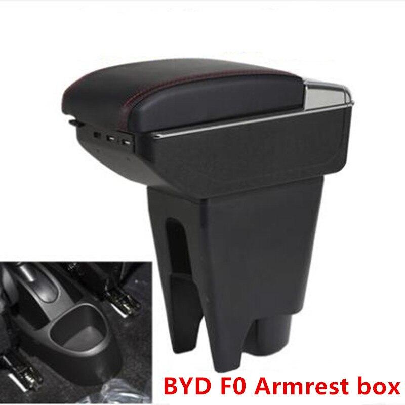 Para BYD F0 caixa Apoio de Braço central caixa Armazenar conteúdo com suporte de copo cinzeiro com interface USB
