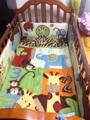 8 Unids Bebé juego de cama Cuna de algodón juego de cama 3D elefantes monos Bolsa de Orina Colchón Falda de La Cama ropa de cama Cuna Edredón Bumper cubierta