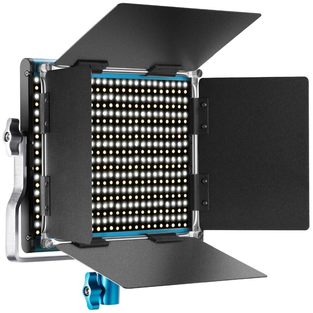 Neewer металлический двухцветный светодиодный видео свет для студии/YouTube/фотографии/видеосъемки прочный металлический каркас затемнения 660 б...