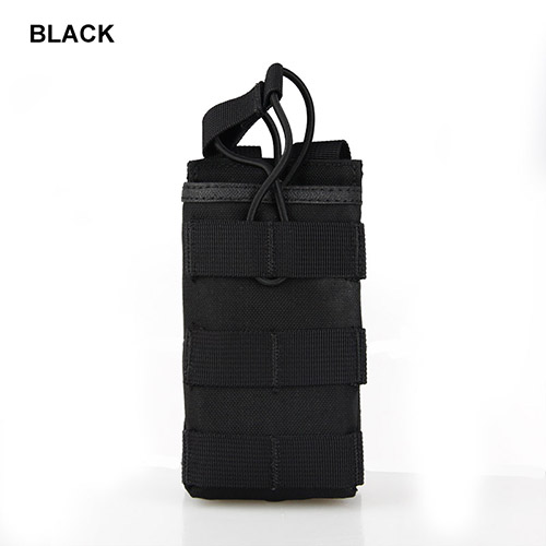5 Piezas Sistema Molle Militar Pequeña Bolsa Para Botella Kits de Hutning de Color de Color Caqui Negro Titular de la bolsa PP6-0058