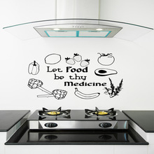 Lovely food Waterproof Wall Stickers Home Decor For Kids Rooms Diy Decoration Art Wallpaper