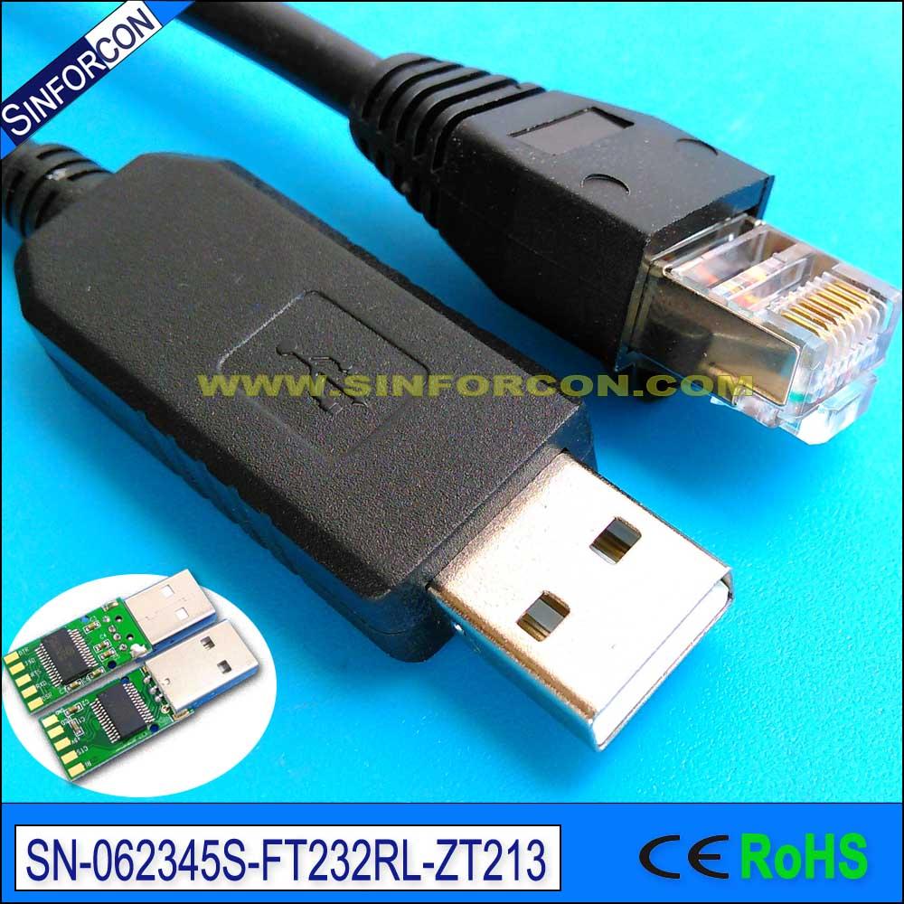 Win7 8 10 mac Android ft232 ft231 usb rs232 à rj45 blindé console câble pour huawei cisco routeur switcher