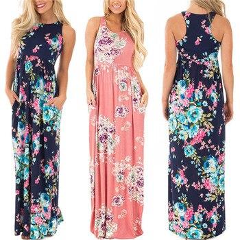 Women Dress 2018 Summer Long Floral Print Boho Dress 4