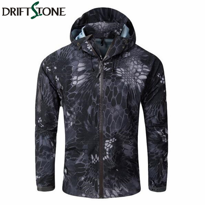 New Camouflage Hardshell Men Military Jacket Army Autumn Waterproof Windbreaker Clothes Tactical Multicam Coat for Men