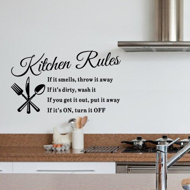 Kreative Unsere Küche Regeln Englisch alphabet Schwarz DIY ...