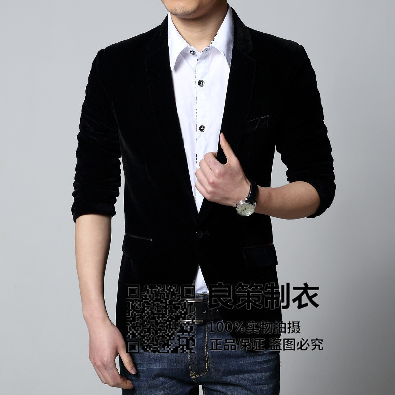 2020 Men Velveteen Blazer High-grade Velvet Blue Black Wine Red Corduroy Blazer