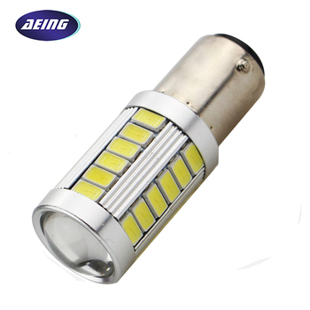 AEING 1 piece S25 1157 bay15d P21/5W LED Bulb Car 12V Stop/Tail/Rear/Brake/Reverse Light Bulb Xenon White Red Colors image