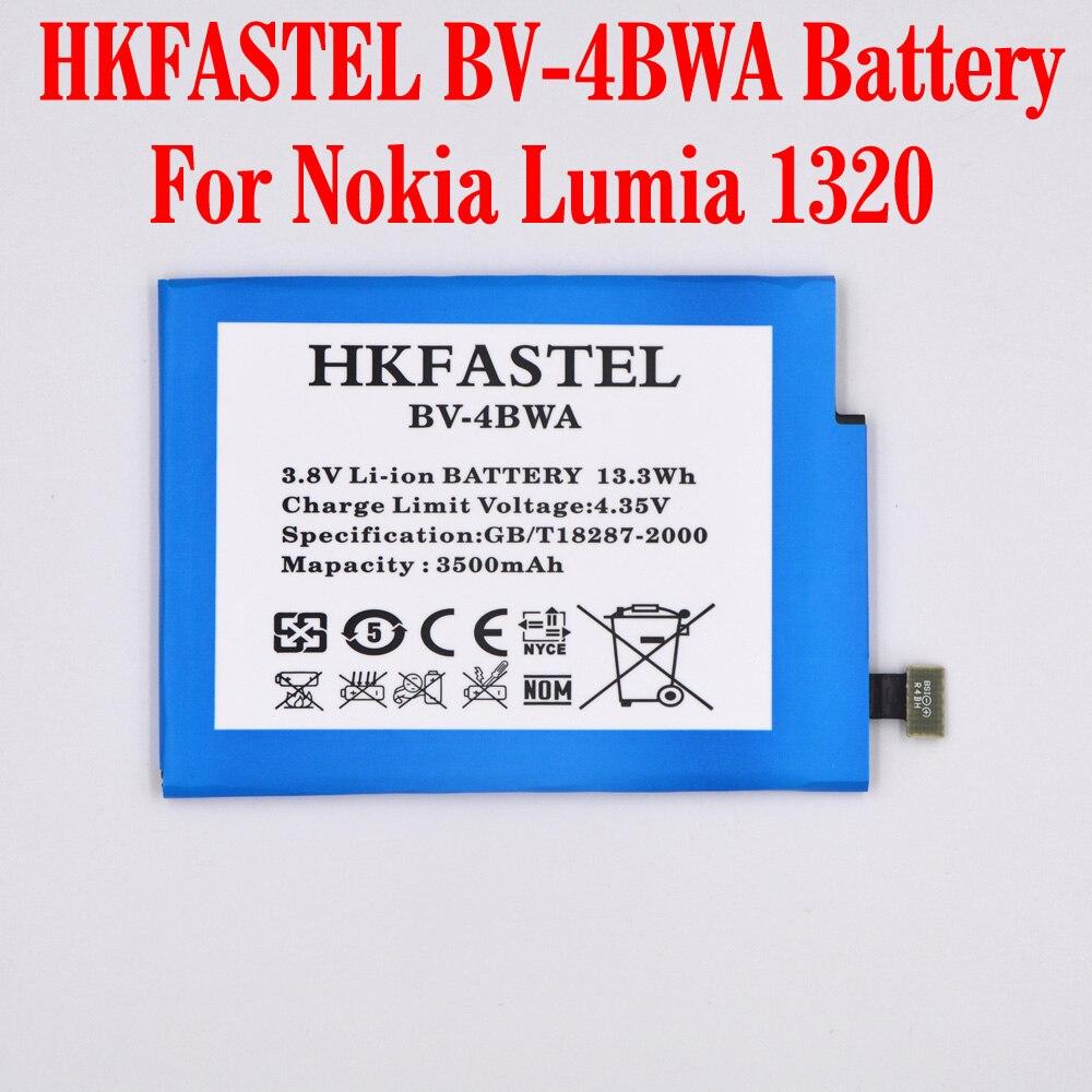 HKFASTEL New Original BV-4BWA 4BWA Li-ion Mobile Phone Battery For Nokia Lumia 1320 Cell phone batteries ,3400mAh,High QualityHKFASTEL New Original BV-4BWA 4BWA Li-ion Mobile Phone Battery For Nokia Lumia 1320 Cell phone batteries ,3400mAh,High Quality
