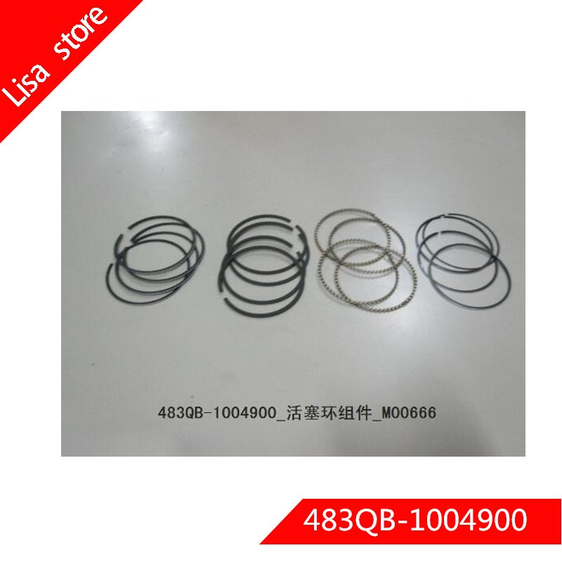 483QB 1004900 Engine Piston Ring Set for BYD F6 G3 M6 L3 S6 G3R G6 483QB engine|Pistons  Rings  Rods & Parts| |  - title=