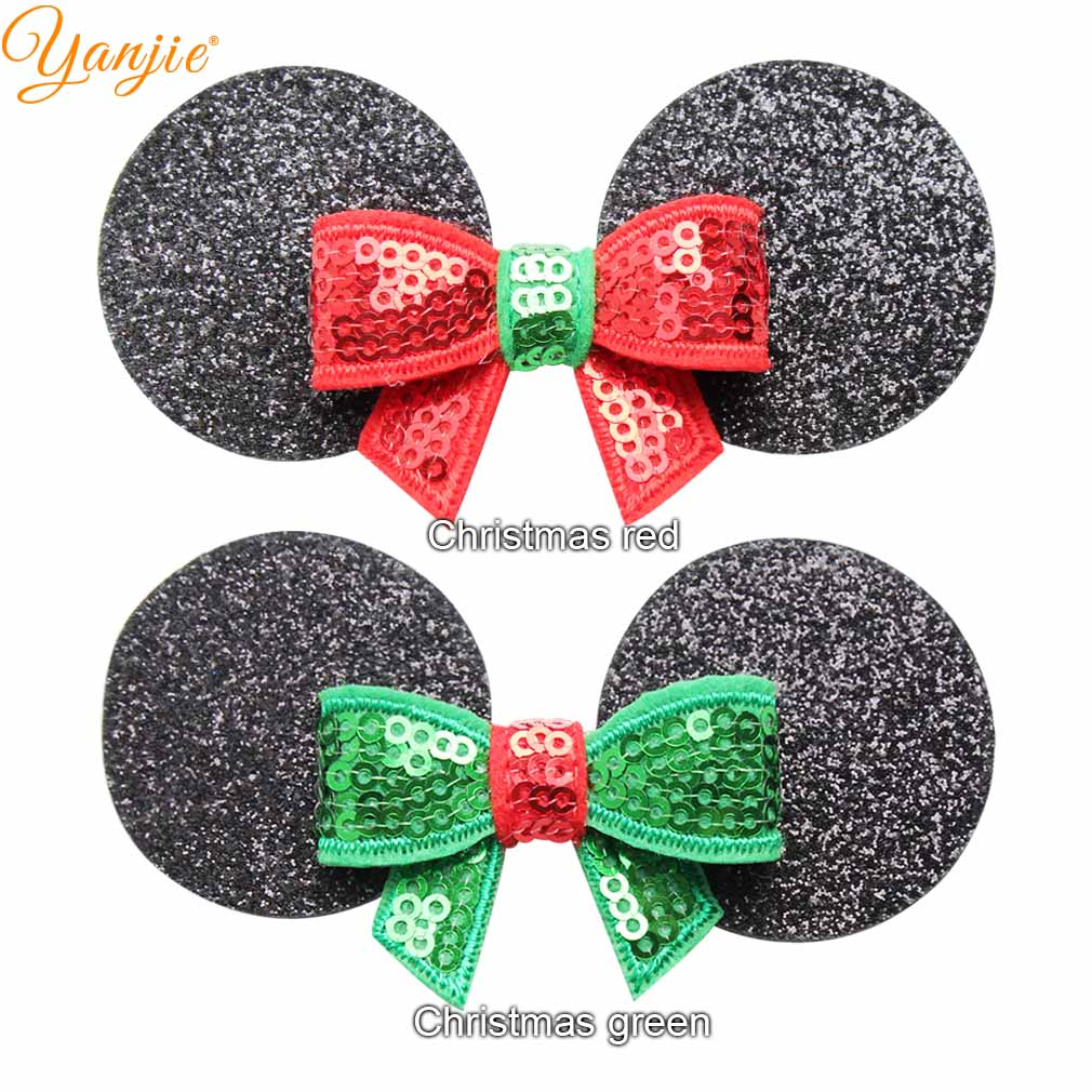 Details About 12pcs Lot Cute Minnie Mouse Ears Hair Clips For Kids 2018 Christmas Girls Diy