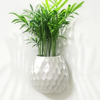 Kreative Weiß Keramik Wand Vase Outdoor Hydrokultur Pflanze Hängen Blumentopf Innen Wand Pflanzer Hause Wohnzimmer Sukkulenten Topf