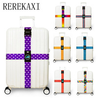 REREKAXI Luggage Strap Cross Belt Packing Adjustable Travel Suitcaseband Nylon Suitcase With Travel Accessorie
