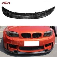 Юбка переднего бампера из углеродного волокна сплиттер спойлер для хэтчбеков BMW серий 1 E82 E87 1 м купе 2-двери 2011 FRP головы бампера подбородка лопата для снега