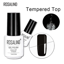 ROSALIND 7ml Long Lasting Top Coat Base Coat UV Gel Nail Polish Shiny Sealer Manicure Soak off Reinforce Top Base Nail Primer