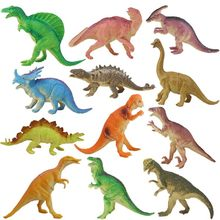 12pcs/lot Dinosaurs Model Cute Animals Gifts Boys Toys Hobbies Kids PVC Dinosaurus Figures Tyrannosaurus Auction Figures(China)