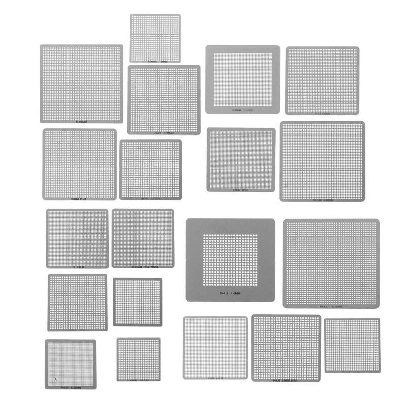27Pcs BGA Stencils Universal Direct Heated Stencils Computer Accessories For SMT SMD Chip Rpair