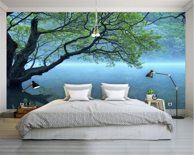 Beibehang Custom Photo Wallpaper Modern 3D Wallpaper Tree Landscape Art Design  Bedroom Office Living Room Wallpaper