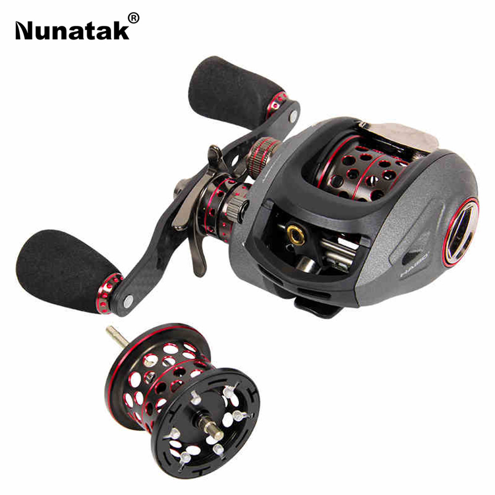 все цены на Top Quality Nunatak  Brand 188g Smart 50/51 HMCS Lef/Right Hand 13BB High Speed 7.2:1 Baitcasting Fishing Reel With Spare Spool онлайн