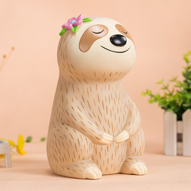 Cute little sloth child piggy bank 1