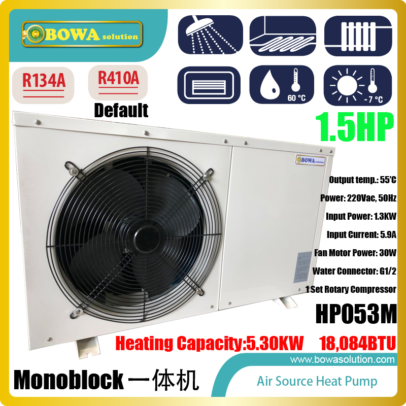 18,000BTU monoblock Hi-COP air source heat pump water heater for resturant washing, please check with us about shipping costs джон дэвисон рокфеллер как я нажил 500 000 000 мемуары миллиардера
